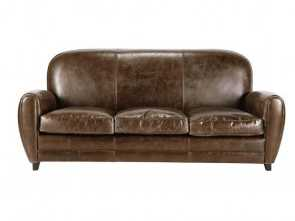 divano oxford maison du monde 3 seater leather vintage sofa in brown Oxford A Buon Mercato 5 Divano Oxford Maison Du Monde