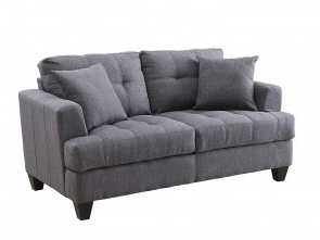 divano relax amazon Amazon.com: Simple Relax Samuel Charcoal Loveseat: Kitchen & Dining Rustico 4 Divano Relax Amazon
