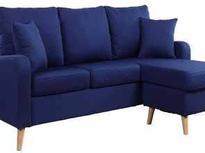 Divano Relax Amazon, Magnifico Amazon.Com: Divano Roma Furniture, Century Modern Linen Fabric Small Space Sectional Sofa With Reversible Chaise (Dark Blue): Kitchen & Dining
