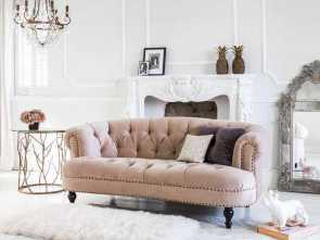 Divano Shabby Rosa, Buono Chablis & Roses Sofa, Pink French Interiors, Couchy Couches