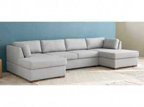 Divano Time Square Maison Du Monde, Stupefacente Light Grey 7-Seater U-Shaped Sofa Bed, Maisons Du Monde