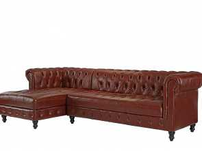 Divano Vintage Amazon, Amabile Amazon.Com: Divano Roma Furniture Classic Real Tufted Leather Match Chesterfield L Shape Sectional Sofa With Chaise (Light Brown): Kitchen & Dining
