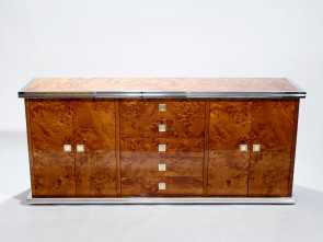Divano Willy Maison Du Monde, Magnifico Brass & Chrome Sideboard By Willy Rizzo, 1970S