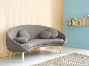 Divano Willy Maison Du Monde, Loveable Mottled Light Grey 3-Seater Fabric Sofa Willy