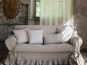 fodera divano shabby chic soft, shaggy : blue linen sofa covering, shabby chic., Slipcovers ...for sofas & chairs. & etc.... cushions. .., 2019, Pinterest, Shabby chic so… Superiore 6 Fodera Divano Shabby Chic