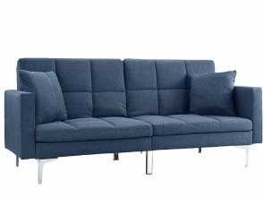 Futon, Divano, Stupefacente Amazon.Com: DIVANO ROMA FURNITURE Modern Plush Tufted Linen Split Back Living Room Futon, Sofa, Small Space (Blue): Kitchen & Dining