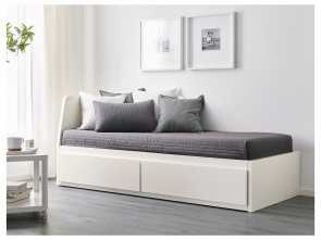 Futon Ikea Cama, A Buon Mercato FLEKKE Day-Bed Frame With 2 Drawers White