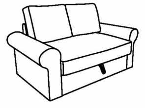 Ikea Backabro Bsogest 3, Migliore BACKABRO Two-Seat Sofa-Bed Frame