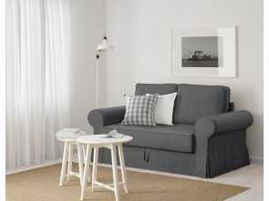 ikea backabro grey BACKABRO Two-seat sofa-bed Nordvalla dark grey Costoso 6 Ikea Backabro Grey