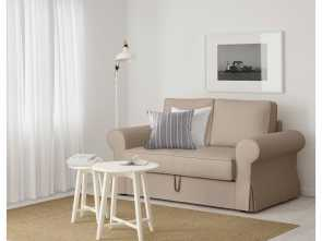 ikea backabro koltuk BACKABRO Two-seat sofa-bed Ramna beige Loveable 4 Ikea Backabro Koltuk