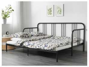 Ikea Divano Letto Fyresdal, Incredibile IKEA, FYRESDAL Daybed With 2 Mattresses Black, Minnesund Firm