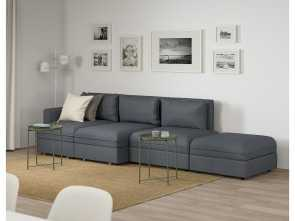 ikea divano vallentuna VALLENTUNA 4-seat sofa with, Hillared dark grey Divertente 6 Ikea Divano Vallentuna