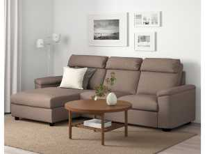 Ikea Divano Vintage, Classy IKEA, LIDHULT Sofa With Chaise, Lejde Beige/Brown, Products