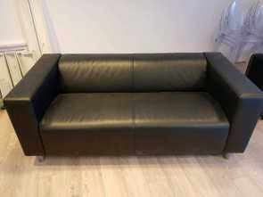 Ikea Klippan 2 Seater, Ideale Ikea Klippan 2 Seat Sofa Compact Black Sofa Like New!!!!, In Aberdeen, Gumtree