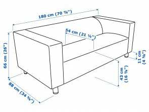 Ikea Klippan 2 Seater, Bello IKEA KLIPPAN 2-Seat Sofa, Cover Is Easy To Keep Clean Since It Is