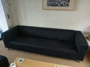 Ikea Klippan 4-Sits, Rustico Ikea Klippan Sofa, Four Seater +, Seater + Footstool In Black Fabric 2,3,4