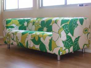 Ikea Klippan Sofa Covers Yellow, Magnifico Floral Klippan Sofa Cover In White Green, Yellow, Furniture Decor Ideas
