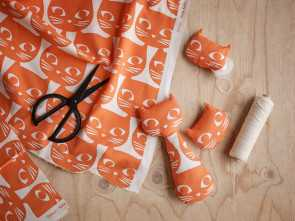 ikea stoffe katzen orange, white, fabric from IKEA Australia on, Life Creative Loveable 4 Ikea Stoffe Katzen