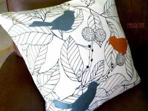ikea stoffe stockholm Silk Birds on Ikea Stockholm Blad- Pillow Cover (15.00 USD) by thfabricate Semplice 6 Ikea Stoffe Stockholm