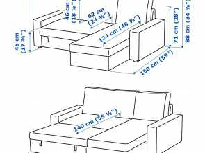 Ikea Vilasund Assembly Instructions, Semplice VILASUND Sofa, With Chaise Longue Hillared Anthracite