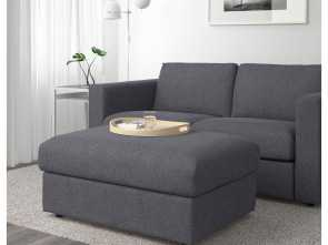 Ikea Vimle Stoffe, Loveable IKEA, VIMLE Footstool With Storage Gunnared Medium Gray Thuis Woonkamer, Fauteuil, Stoffen Poef