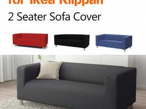Klippan Ikea Manual, Favoloso Details About Stretch Slipcover 2 Seater Sofa Chair Couch Cover Soft Loveseat, Ikea Klippan