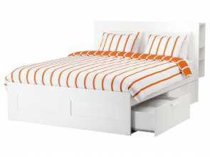letto contenitore ikea brimnes IKEA, BRIMNES,, frame with storage & headboard, Queen, -, ,, 4 large drawers give, an extra storage space under, bed.Adjustable, sides allow Fantasia 5 Letto Contenitore Ikea Brimnes