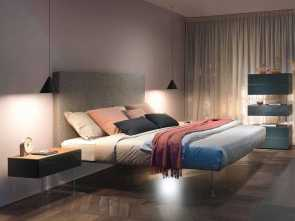 Letto King Size Dwg, Semplice Air Bed: A Modern, Elegant Bed, LAGO Design