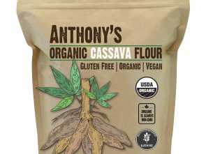 M Divani Flour, Favoloso Anthony'S Organic Cassava Flour (2Lbs), Batch Tested Gluten-Free, Vegan
