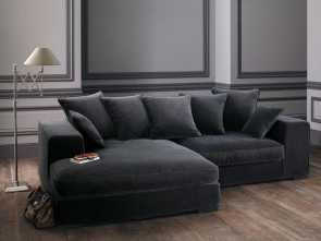 maison du monde divano bruges 4 seater velvet corner sofa in grey, Chairs, couches, Sofa Migliore 5 Maison Du Monde Divano Bruges