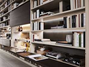 n molteni lettings 505 Bookshelves, multimedia, Molteni, 書斎 in 2019 Bellissimo 5 N Molteni Lettings