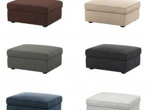 poggiapiedi ikea ebay IKEA KIVIK Cover, Footstool with Storage, (Footstool, Included), eBay Semplice 6 Poggiapiedi Ikea Ebay