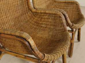Poltrone Vimini Vintage, Loveable Pair Of Wicker, Rattan Armchairs Vintage Italy 1960S