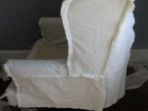 Tappezzeria, Divani, Da Te, Loveable Sedia, Da Te · Coperture, Divano · Artigianato · Cucito, Principianti · Learn, To Slipcover A Wingback Chair With Painter'S Drop Cloth