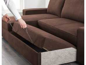 vilasund ikea sofa bed VILASUND Sofa, with chaise longue Borred dark brown Eccezionale 6 Vilasund Ikea Sofa Bed