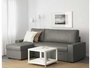 Vilasund Sofa, Ikea, Incredibile VILASUND Sofa, With Chaise Longue Borred Grey-Green