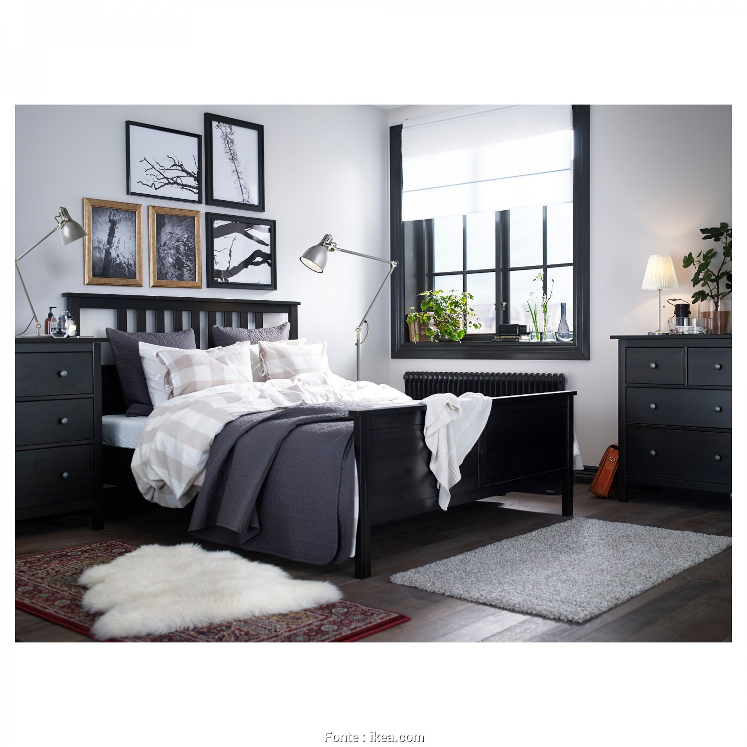Video Letto Hemnes Ikea, Bellissima HEMNES, Frame, Black-Brown