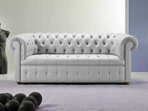 divano chesterfield capitonne Chesterfield sofa / leather / 3-seater / gray -, CHESTER Esclusivo 4 Divano Chesterfield Capitonne