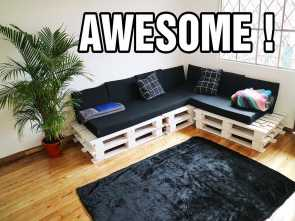 Youtube Divani In Pallet, Stupefacente MAKING, CUTEST, PALLET COUCH